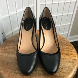 Cole Haan Black Leather Heels Size 7B